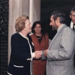 Fine anni 80 Presidente del Consignio Giorgio Goria e Margaret Thatcher